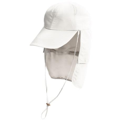 Glacier Glove Black Rock Hat - UPF 50+ (For Men and Women) in White