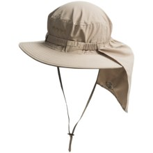 Glacier Glove Boonie Hat with Shade - UPF 50+ (For Men and Women) in Khaki - Closeouts