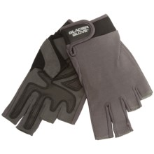 Glacier Glove Fingerless Stripping/Fighting Sun Gloves - UPF 50+ (For Men and Women) in Grey - Closeouts