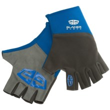 Glacier Glove Midweight Pro Angler Gloves - Fingerless (For Men and Women) in Grey/Blue - Closeouts