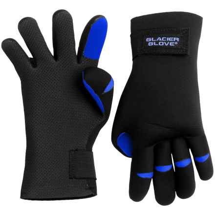 Glacier Glove s Bristol Bay Gloves - Waterproof (For Men and Women) in Black/Blue - Closeouts