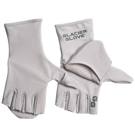 Glacier gloves abaco bay flip mitts fingerless fishing for Fishing sun gloves