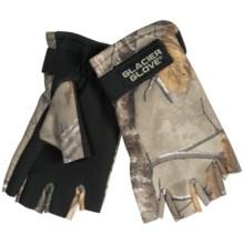 Glacier Gloves Fleece Gloves - Fingerless, Neoprene Palm (For Men and Women) in Realtree Xtra - Closeouts