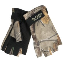Glacier Gloves Fleece Gloves - Fingerless, Neoprene Palm (For Men and Women) in Realtree Xtra - Closeouts