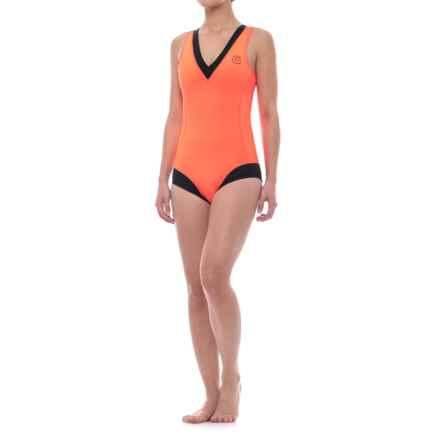 GlideSoul Glidesoul One-Piece Neoprene Swimsuit (For Women) in Peach/Black - Closeouts