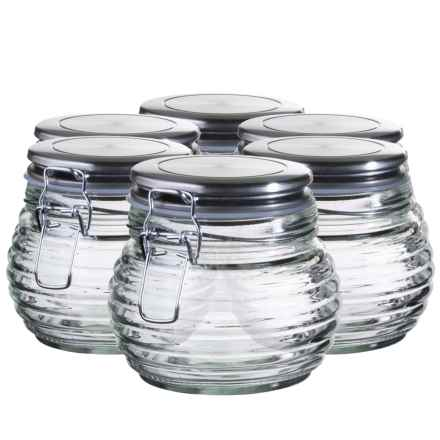 Global Amici Beehive Glass Canisters - Small, Set of 6 in Clear Glass - Closeouts