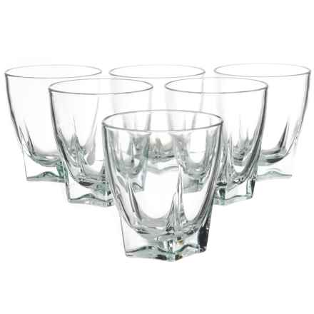 Global Amici Camelot Double Old-Fashioned Glasses - 12 fl.oz., Set of 6 in Clear - Closeouts