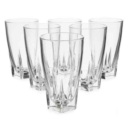 Global Amici Camelot Highball Glasses - 15 fl.oz., Set of 6 in Clear - Closeouts