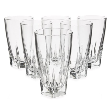 Global Amici Camelot Highball Glasses - 15 fl.oz., Set of 6 in Clear
