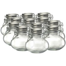 Global Amici Carina Herm Preserving Spice Jars - Set of 12 in Clear Glass - Closeouts