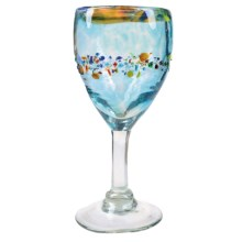 Global Amici Del Sol Glass Goblet - Recycled Materials in Multi-Colored - Overstock