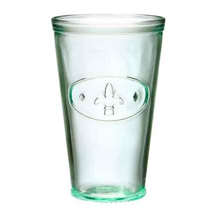 Global Amici Fleur-De-Lis Highball Glass - 16 fl.oz. in Clear - Closeouts