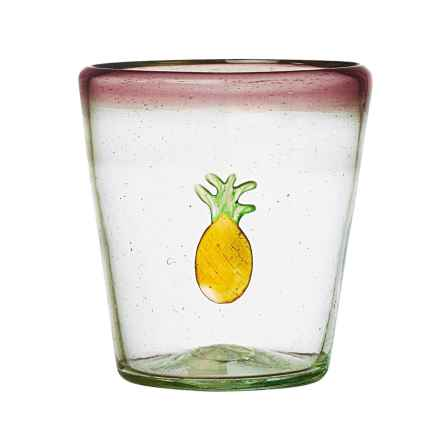 Global Amici Fresco Pineapple Double Old-Fashioned Glass - 12 fl.oz. in Violet - Closeouts