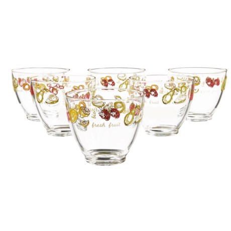Global Amici Fresh Fruit Bowl - Set of 6 in Multi
