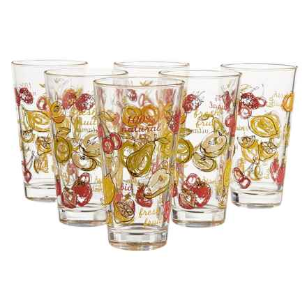 Global Amici Fresh Fruit Glasses - 16 fl.oz., Set of 6 in Mulit - Closeouts