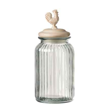 Global Amici Homestead Antique Round Glass Canister - Medium in Cream - Closeouts