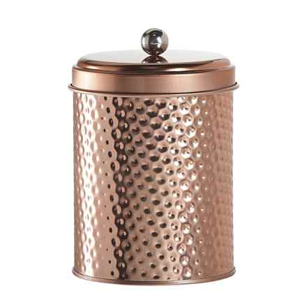 Global Amici Mauritius Round Canister - Medium in Copper - Closeouts