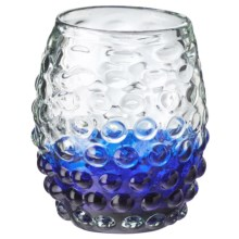 Global Amici Ombre Hobnail Double Old-Fashioned Glass - 12 fl.oz. in Blue - Overstock
