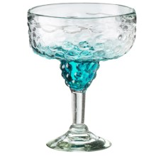 Global Amici Ombre Hobnail Margarita Glass in Aqua - Overstock