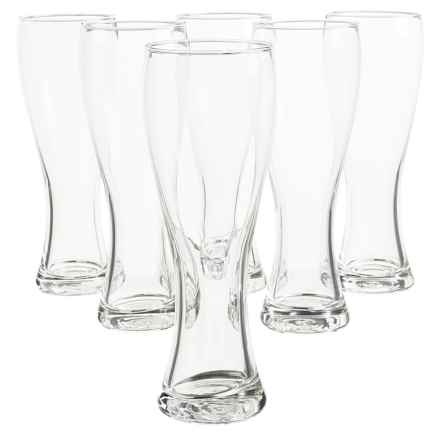 Global Amici Pantsheon Tall Beer Glasses - 24 fl.oz., Set of 6 in Clear - Closeouts