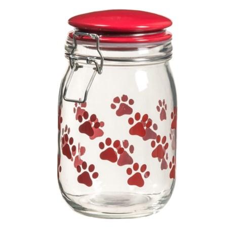 Global Amici Paw Milan Dog Treat Jar - 36 oz. in Red