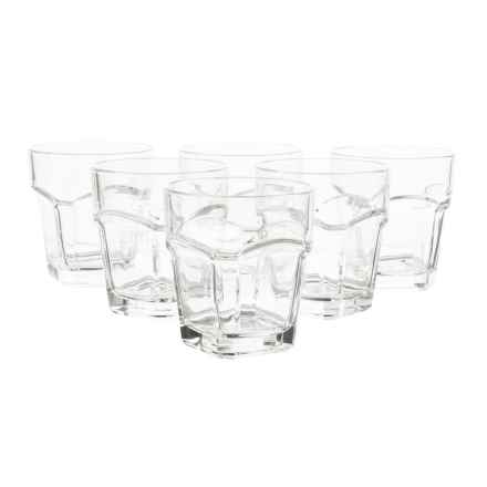 Global Amici San Marco Double Old-Fashioned Glasses - 9 fl.oz., Set of 6 in Clear - Closeouts