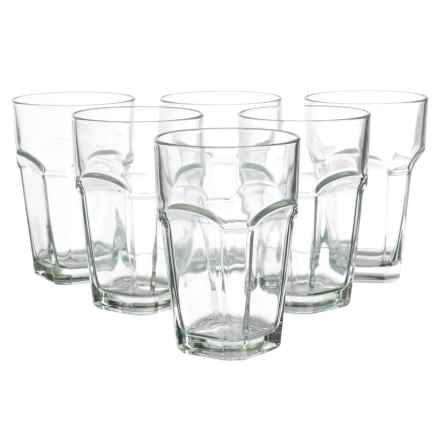 Global Amici San Marco Highball Glasses - 14 fl.oz., Set of 6 in Clear - Closeouts