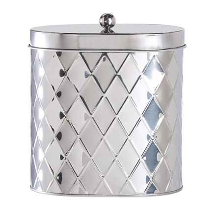 Global Amici Seychelles Oval Canister - Large in Stainless Steel - Closeouts