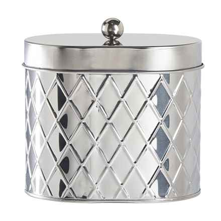 Global Amici Seychelles Oval Canister - Medium in Stainless Steel - Closeouts