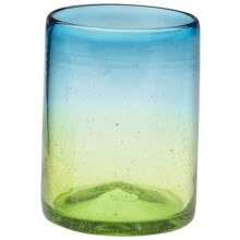 Global Amici Sonora Collection Handmade Double Old-Fashioned Glass in Green / Aqua - Overstock