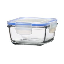 Global Amici Square Superblock Food Storage Jar - 13 oz. in Clear Glass - Closeouts