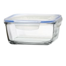 Global Amici Square Superblock Food Storage Jar - 49 oz. in Clear Glass - Closeouts