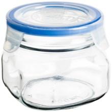 Global Amici Superblock Storage Jar - 17 oz. in Clear Glass - Closeouts