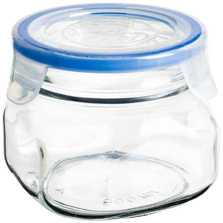 Global Amici Superblock Storage Jar - 17 oz. in Clear Glass - Closeouts