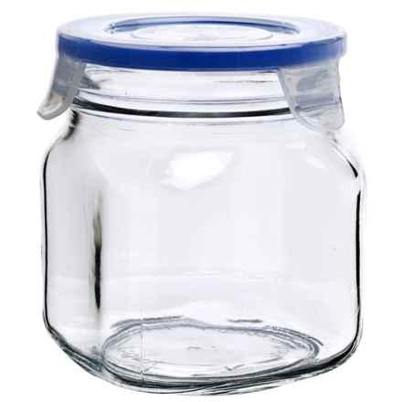 Global Amici Superblock Storage Jar - 26 oz. in Clear Glass - Closeouts
