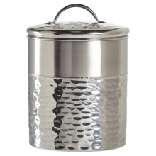 Global Amici Vanderbilt Stainless Steel Canister - Extra Large in Stainless Steel - Closeouts