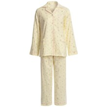 Global Cotton Flannel Pajamas - Long Sleeve (For Women) in Yellow/Pink Flowers - Closeouts