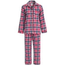 Global Flannel Cotton Pajamas - Long Sleeve (For Women) in Pink Plaid - Closeouts