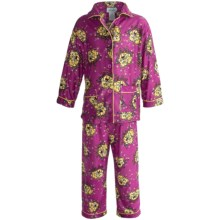 Global Flannel Pajamas - Long Sleeve (For Toddler Girls) in Fuschia - Closeouts