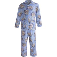 Global Flannel Pajamas - Long Sleeve (For Youth Girls) in Blue - Closeouts