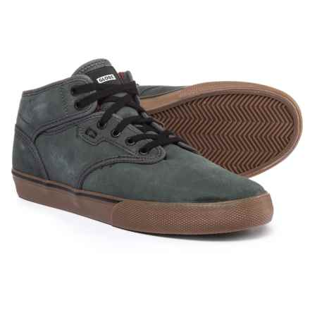 Globe Shoes Motley Mid Sneakers (For Men) in Dark Shadow/Tobacco - Closeouts