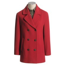 Gloverall Original British Pea Coat (For Women) in Dark Red - Closeouts