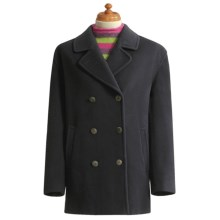 Gloverall Original British Pea Coat (For Women) in Navy - Closeouts
