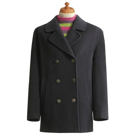 Gloverall Original British Pea Coat (For Women) in Navy