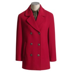 Gloverall Original British Pea Coat (For Women) in Red