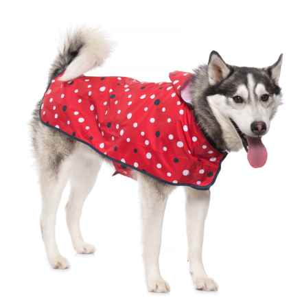 Go Fresh Pet Packable Dog Rain Poncho in Red/Navy - Closeouts