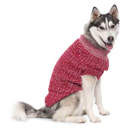 Go Fresh Pet Salen Dog Sweater in Candy Red - Closeouts