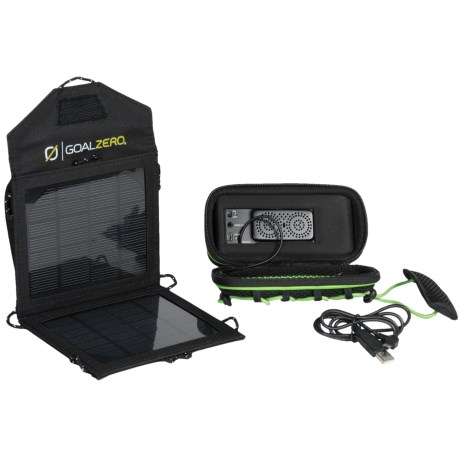 Goal Zero Rock Out Mobile Speaker and Solar Panel Kit in See Photo