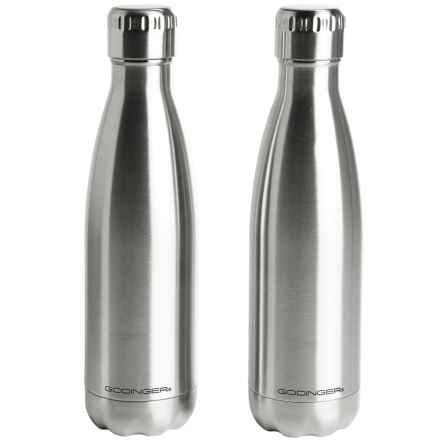 Godinger Vacuum-Insulated Hot and Cold Beverage Bottles - Set of 2, Stainless Steel in Stainless/Stainless - Closeouts