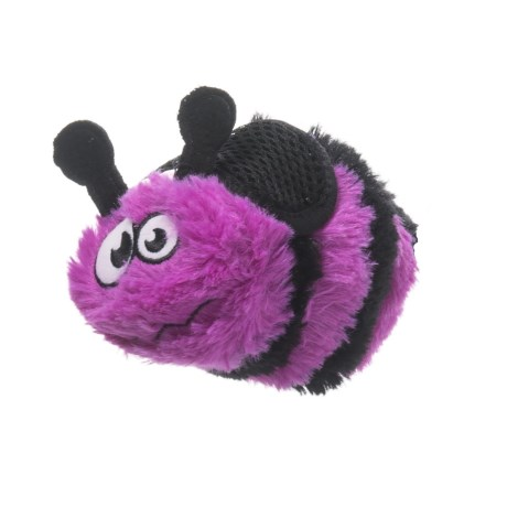 goDog Small Bee Dog Toy in Purple